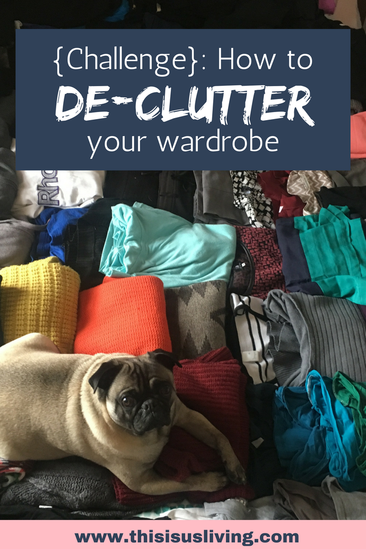 Find out how I went from over 70 items of clothing to 30. declutter your own wardrobe with these organizing tips!