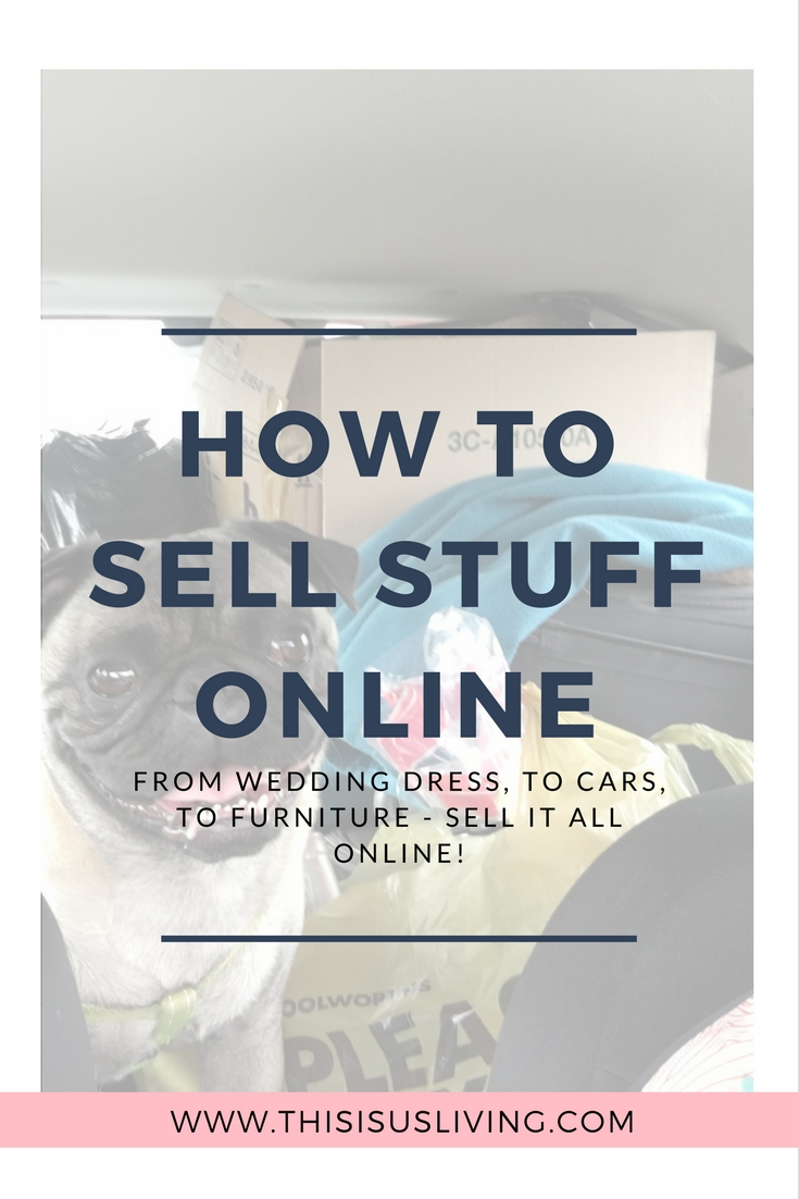How to sell stuff online, using websites and Facebook groups.
