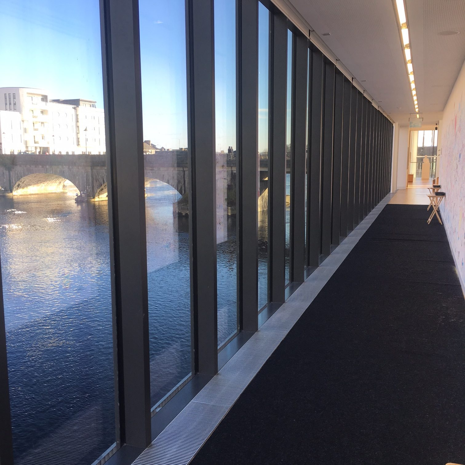 inside Luan Gallery on the banks of the Shannon River, Athlone in Ireland