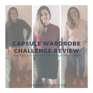 A review of my capsule wardrobe challenge. Spoiler: I got over 55 outfits using 24 clothing items.