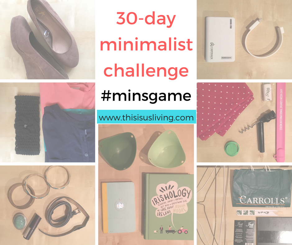 30 day minimalist challenge, #minsgame review. I think that is the biggest lesson I have learnt on this journey to a simple life, filled with less stuff. That it isn't as simple as not holding onto anything. Minimalism is not about throwing absolutely everything out either. What I think minimalism is, is having space to breathe. A way to sift through the clutter and see only the things that spark joy.