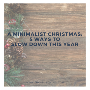 This year we want to try create new Christmas traditions, ones without gifts. We want to really focus on the things that matter most to us.