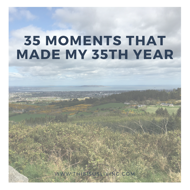 This past Sunday I turned 36. Lately I have been focussing on all the negatives that surround my birthday. This year I decided to rather focus on all the incredible things that have happened this past year, my 35th year of life - my 35th trip around the sun.