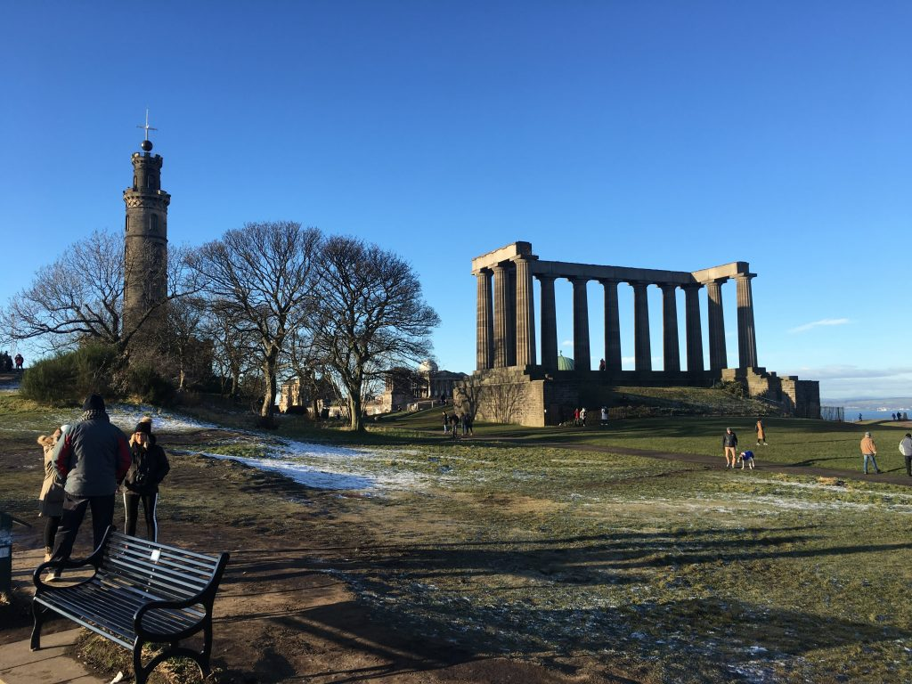 Calton Hill and National Monument in Edinburgh, Scotland