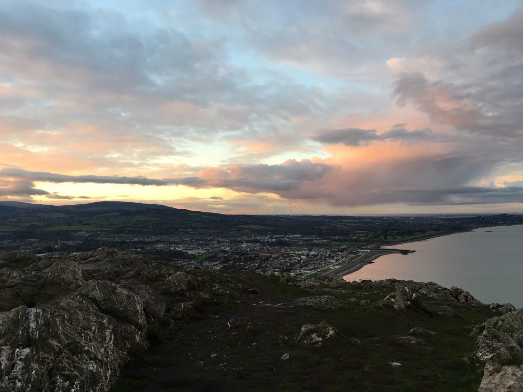 Bray at sunset