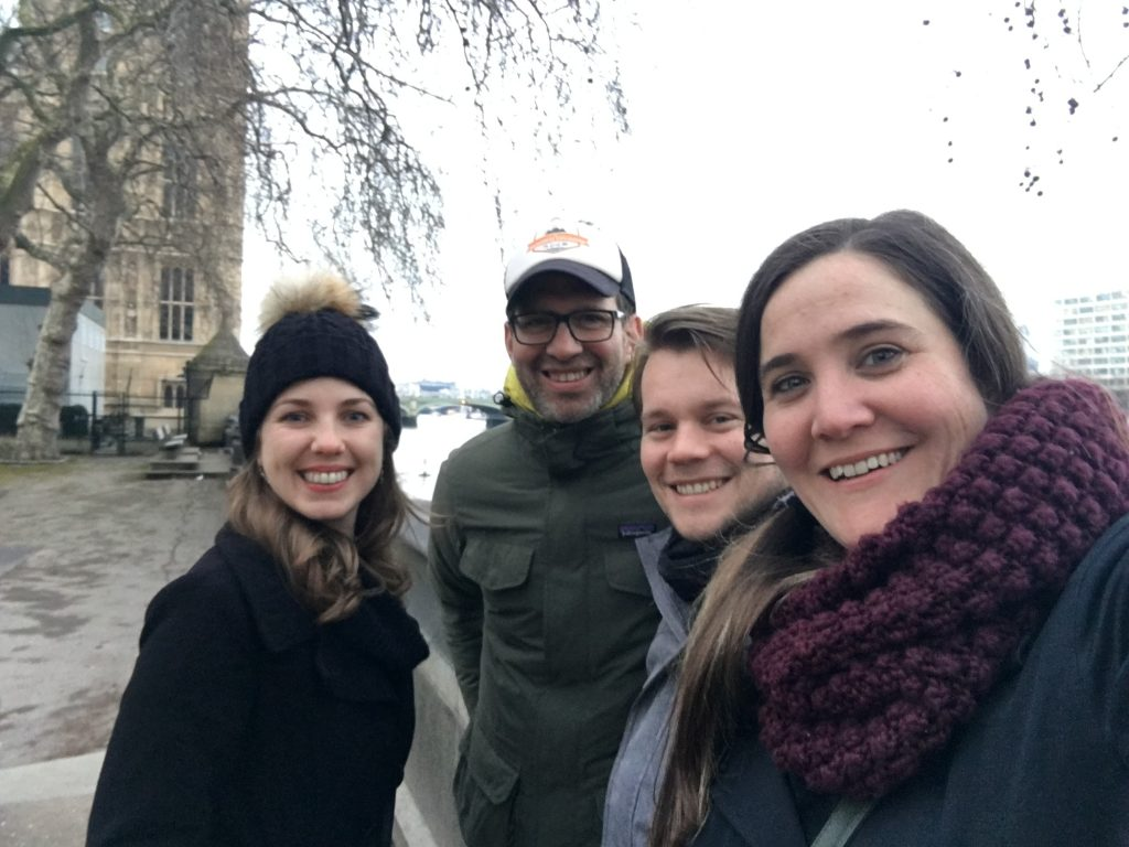 London with friends